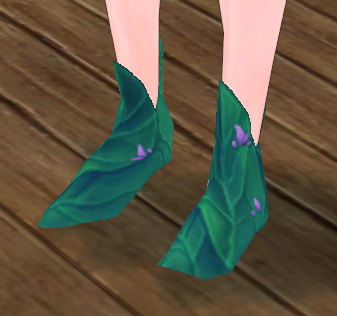 Fleur's Grass Heels Equipped Angled.png